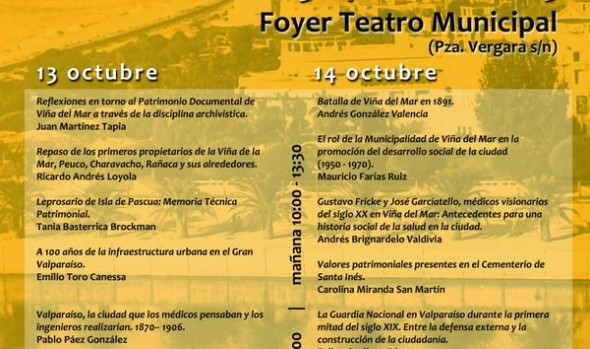 Municipalidad de Viña del Mar invita a 5ª Jornadas de Historia