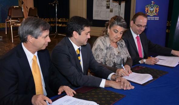 Municipalidad de Viña del Mar firmó importantes convenios de colaboración con instituciones de educación superior