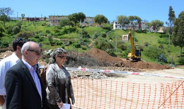 Construcción de Centro Deportivo El Olivar fue visitado por alcaldesa Virginia Rreginato