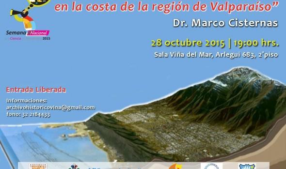 Municipalidad de Viña del Mar invita a charla sobre grandes terremotos y tsunamis en la costa de la región de Valparaíso