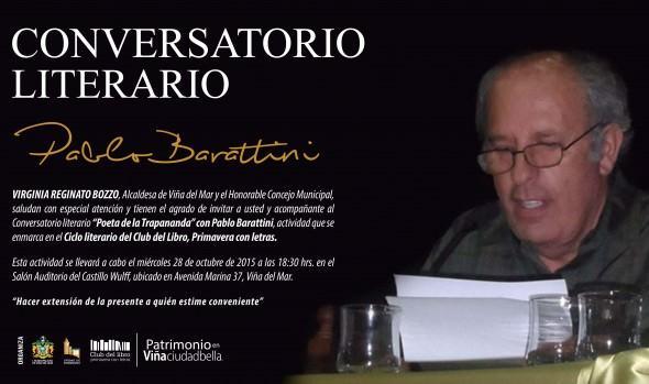 """Municipalidad de Viña del Mar invita a Conversatorio literario """"Poeta de la Trapananda"""""""