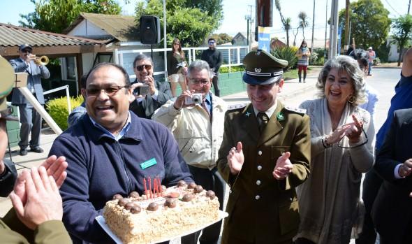 Celebración  del 26° aniversario de tenencia de carabineros fue encabezado por alcaldesa Virginia Reginato