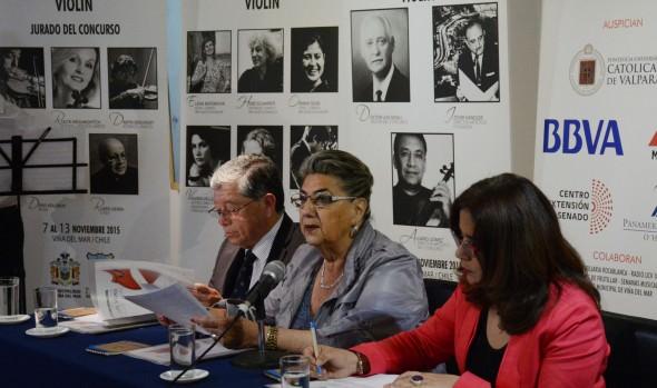 """Lanzamiento del LXII concurso internacional de ejecución musical """"Dr. Luis Sigall"""" fue encabezado por alcaldesa Virginia Reginato"""