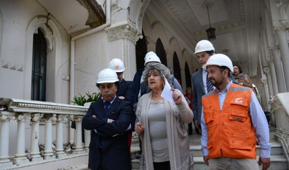 Obras de restauración del Palacio Vergara de Viña del Mar dio inicio alcaldesa Virginia Reginato