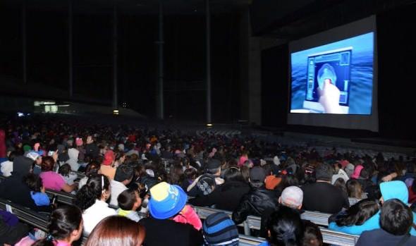 Miles de niños y sus familias disfrutaron exitosa cinta de animación exhibida en el anfiteatro de la Quinta Vergara