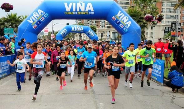 Con gran participación de runners se llevó a cabo en Viña del Mar última corridas familiar 2015