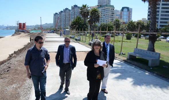 Recuperación de borde costero viñamarino se encuentra en etapa final informó  alcaldesa Virginia Reginato