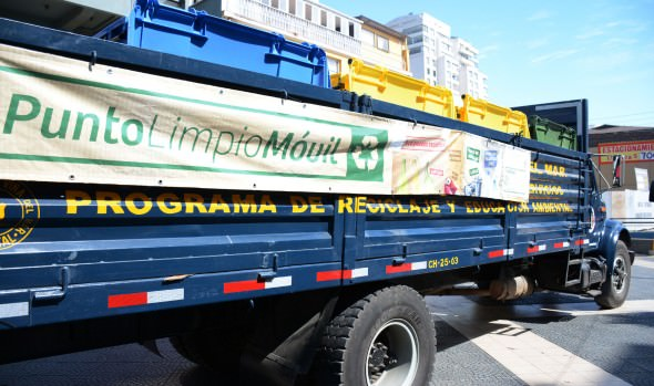 Municipio de Viña del Mar implementa Punto Limpio móvil para el reciclaje de material desechable