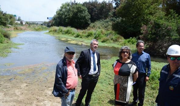 Mejoras de condiciones ambientales de estero de Viña del Mar fueron insopeccionadas  por alcaldesa Virginia Reginato