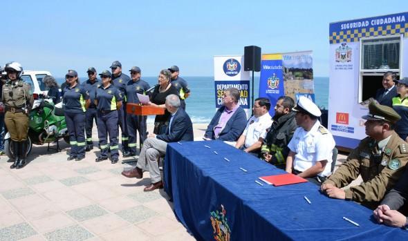 Municipio de Viña del Mar refuerza patrullajes en borde costero con programa Verano Seguro