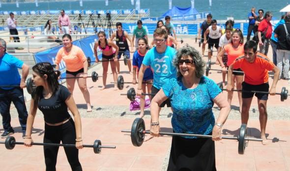 Playa del deporte en Viña del Mar se convierte en verdadero gimnasio al aire libre