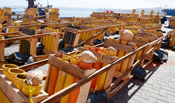 Comenzó montaje de bombas  pirotécnicas para espectáculo de Año nuevo  en el Mar