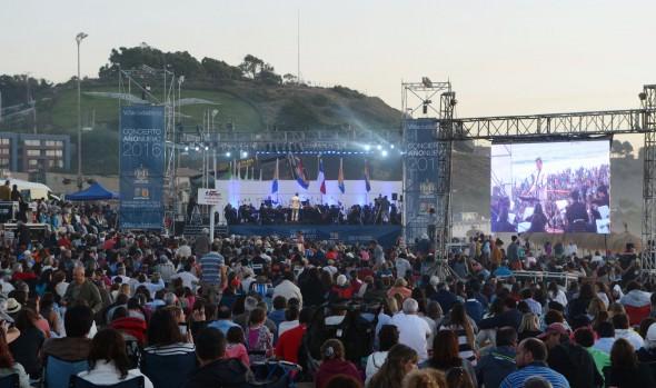Más de tres mil personas disfrutaron del concierto de Año Nuevo en Reñaca