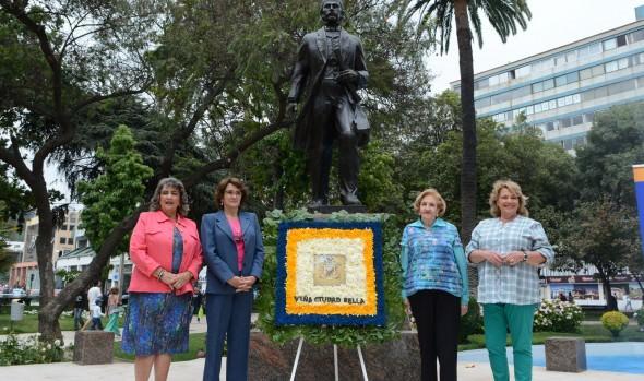 Ceremonia de aniversario 141 de Viña del Mar fue encabezada por Alcaldesa Virginia Reginato