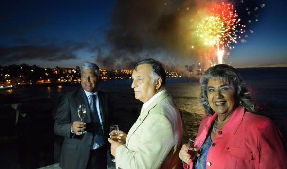 Exitoso adelanto de Año Nuevo en el mar  realizaron Viña del Mar, Valparaíso y Concón