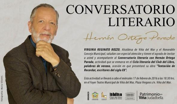 Municipio de Viña del Mar invita a Conversatorio Literario en foyer del Teatro Municipal
