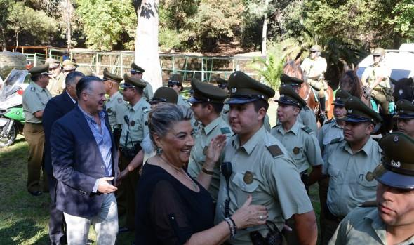 Unidades de Carabineros y PDI temporales en la Quinta Vergara fueron inauguradas por alcaldesa Virginia Reginato