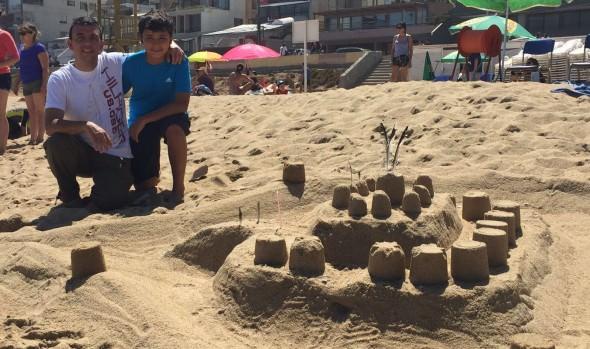 Con éxito se realizó XXXIII Concurso de Castillos de Arena de Viña del Mar