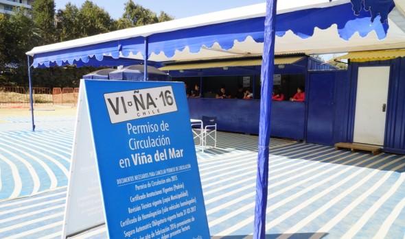 Municipio de Viña del Mar informa recintos abiertos para renovación de permisos de circulación por paro de la CUT