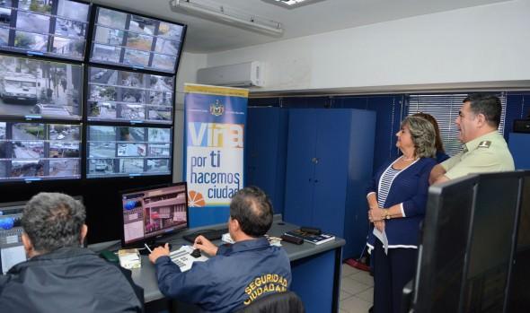 Positivo aporte contra la delincuencia  brinda sistema de cámaras de televigilancia en Viña del Mar