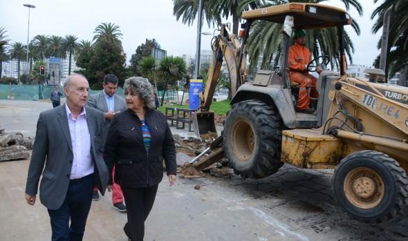 A mediado de año se entregará primera etapa completa de remodelación de Av Perú, informó alcaldesa Virginia Reginato