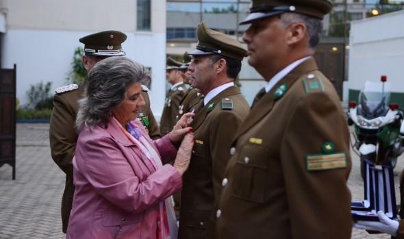 Su saludo por los 89 años de Carabineros de Chile entregó alcaldesa Virginia Reginato