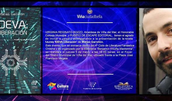Municipalidad de Viña del Mar invita a  conversatorio con escritor Matías Garretón