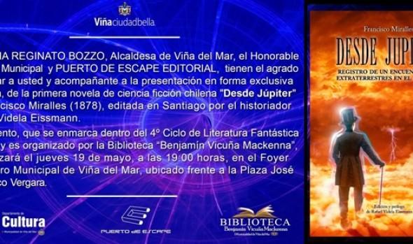 Municipalidad de Viña del Mar invita a analizar primera novela chilena de ciencia ficción