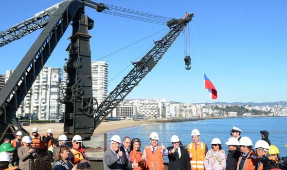 Recuperación del Muelle Vergara en Viña del Mar tiene 75% de avance