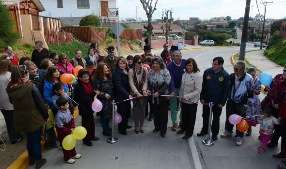 Renovado circuito vial en Ampliación Villa Dulce entregó a la comunidad alcaldesa Virginia Reginato