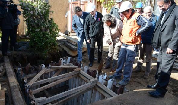 Con nueva tecnología aumentan capacidad de pozos absorbentes para minimizar anegamientos por lluvias en Población Vergara