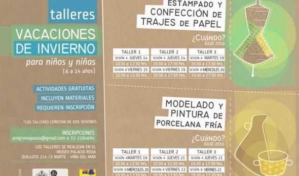 Entretenidos talleres de manualidades  ofrece en Programa Pasos del Municipio de Viña del Mar en vacaciones de invierno