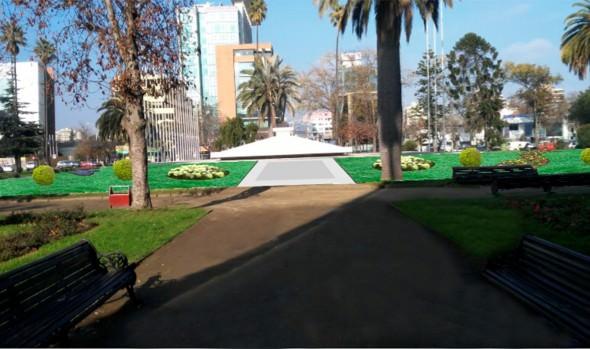Municipio de Viña del Mar potenciará seguridad y ampliará áreas verdes y circuitos peatonales de Plaza O'Higgins