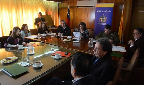 Posibles medidas de seguridad para ruta Las Palmas fueron valoradas por alcaldesa Virginia Reginato