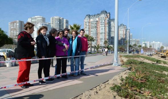 Importante avance registra recuperación del borde costero de Viña del Mar informó alcaldesa Virginia Reginato