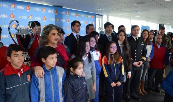 Lanzamiento de XII Olimpiada Escolar y VII Olimpiada interempresas  y Servicios Públicos encabezó alcaldesa Virginia Reginato
