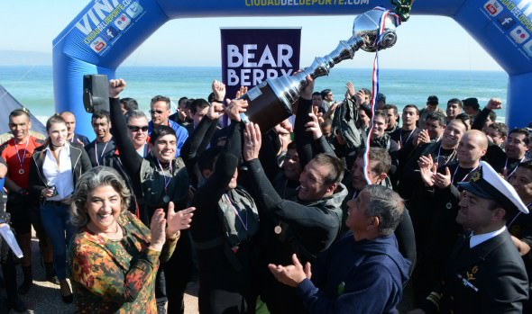 Competencia extrema de buzos tácticos  de la Armada fue valorada como  nuevo atractivo para  Viña del Mar por alcaldesa Virginia Reginato