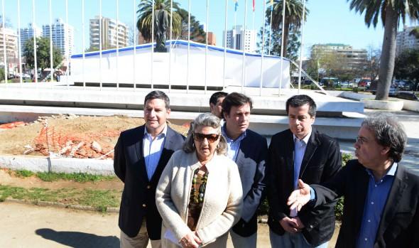 Remodelación de plaza O'Higgins de  Viña del Mar dio inicio alcaldesa Virginia Reginato