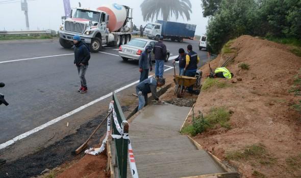 Municipio  de  Viña del Mar incrementa medidas de seguridad vial en parada Deportes Recreo en Variante Agua Santa