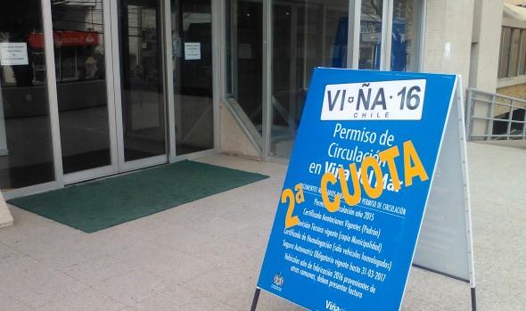 Municipalidad de Viña del Mar brinda facilidades para pago de 2ª cuota de permisos de circulación