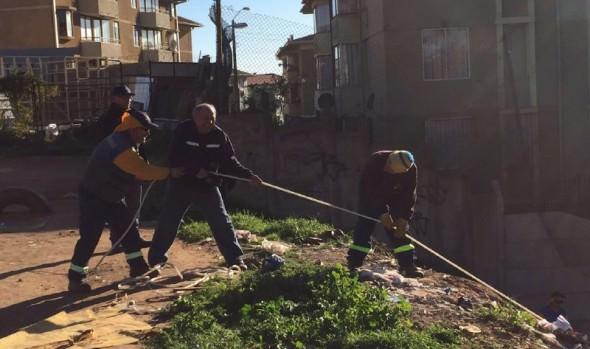 Municipio de Viña del Mar realizó operativo de limpieza en microbasural de Gómez Carreño