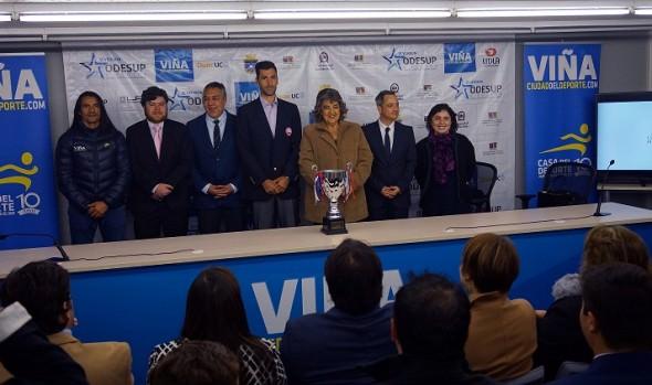 En  estadio Sausalito de Viña del Mar, alcaldesa Virginia Reginato dio el vamos a juegos ODESUP 2016