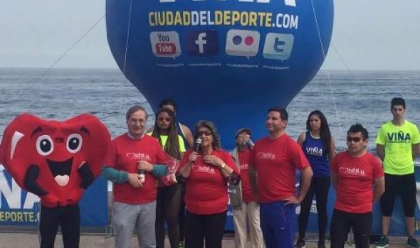 Mes del Corazón en Viña del Mar se clausuró con caminata y zumbatón encabezada por alcaldesa Virginia Reginato