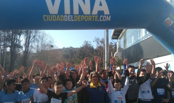 Cross country y futbolito dieron inicio a XII Olimpiada escolar  y VII de Interempresas respectivamente en Viña del Mar