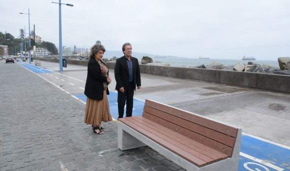 Llamado a no exponerse en el borde costero por marejadas realizo alcaldesa Virginia Reginato