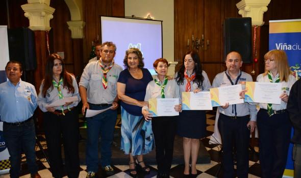 Municipio de Viña del Mar capacitó a scouts en escuela de Seguridad Ciudadana