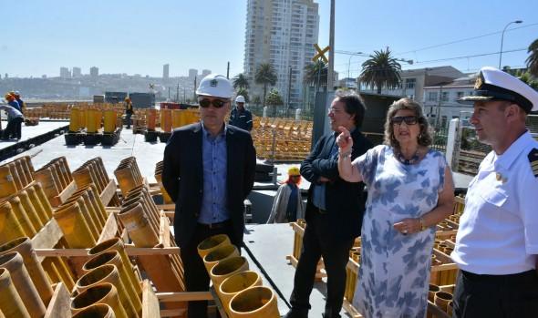 Preparativos de espectáculo pirotécnico en Viña del Mar fueron inspeccionados por alcaldesa Virginia Reginato