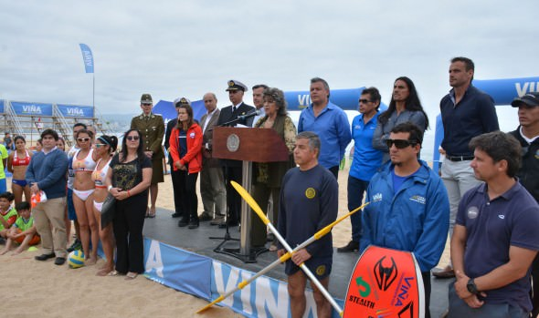 Municipio de Viña del Mar inauguró Playa del Deporte para disfrutar de variadas disciplinas en el verano