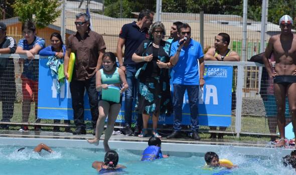 Con más de 65 mil personas beneficiadas, alcaldesa Virginia Reginato dio inicio  a programa de  actividades acuáticas 2017