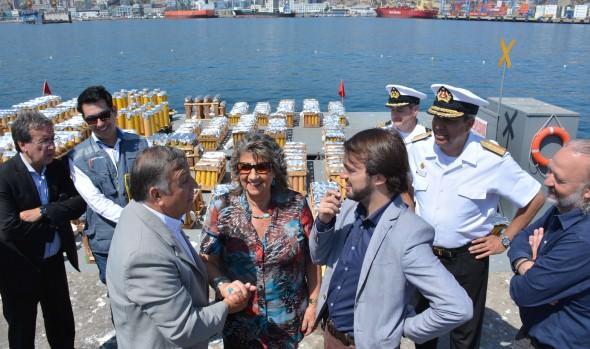 Alcaldes de Viña del Mar, Valparaíso y Concón supervisaron montaje de fuegos artificiales para espectáculo de Año Nuevo